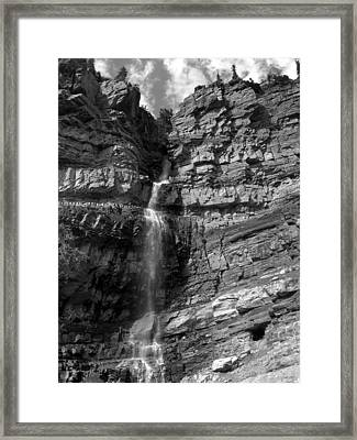 Ouray Waterfall Framed Print by Robert Lozen