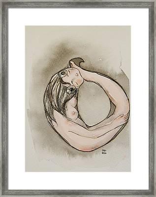 Ouroboros Framed Print by Itzi Hdo