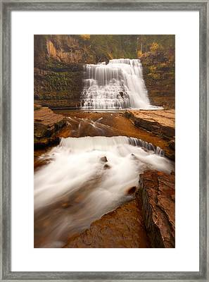 Framed Print featuring the photograph Ousel Falls by Aaron Whittemore