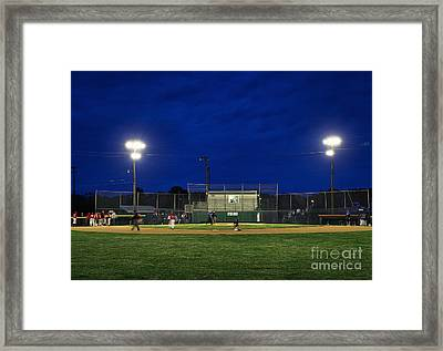 Out At Second Framed Print by John Greim