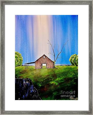 Out At The Farm Framed Print