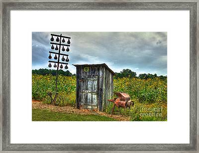 Out Back Framed Print by Reid Callaway