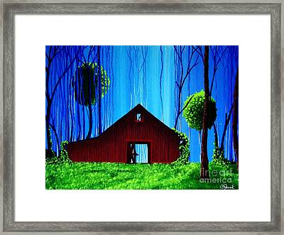 Out Behind The Barn II Framed Print by Kyle  Brock