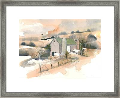 Out Behind The Barn Framed Print