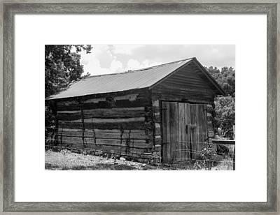 Framed Print featuring the photograph Out Building At The Hermitage by Robert Hebert