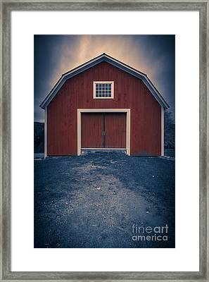 Out By The Barn Framed Print by Edward Fielding