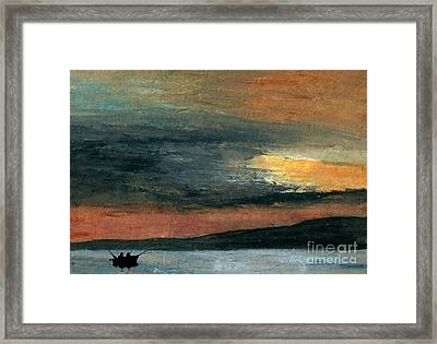 Out Fishin' Framed Print