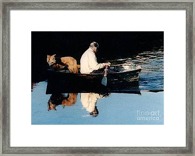 Out For A Boat Ride Framed Print by Susan Crossman Buscho