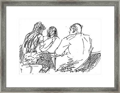 Out For A Coffee Framed Print by Ylli Haruni