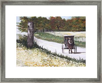 Out For A Ride Framed Print by Susan Crossman Buscho
