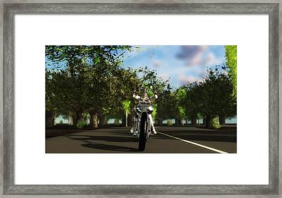 Framed Print featuring the digital art Out For A Ride... by Tim Fillingim