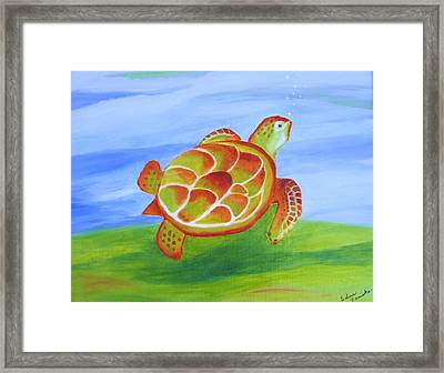 Out For A Swim Framed Print by Edna Fenske