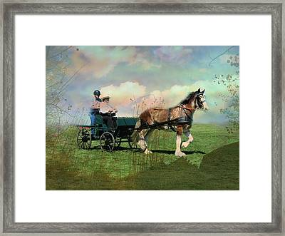 Out For A Trot Framed Print by Shirley Sirois