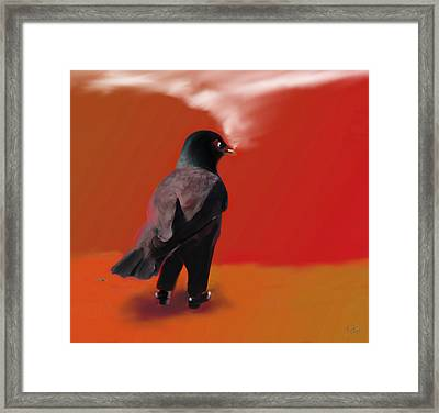 Out For A Walk... Framed Print by Marcello Cicchini