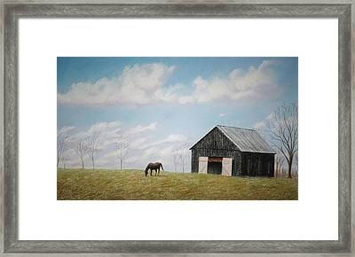 Framed Print featuring the pastel Out For Breakfast by Stacy C Bottoms