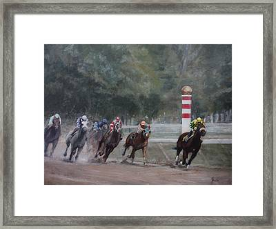 Out In Front Framed Print by Heather Burton