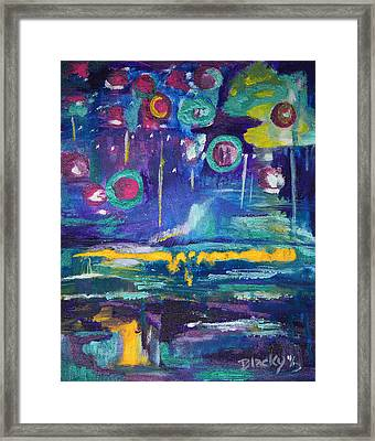 Out In The Universe Framed Print by Donna Blackhall