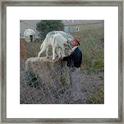 Out Of Africa  Friendly Wolves Framed Print