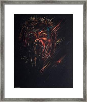 Out Of Blackness Framed Print by Christy Lifosjoe