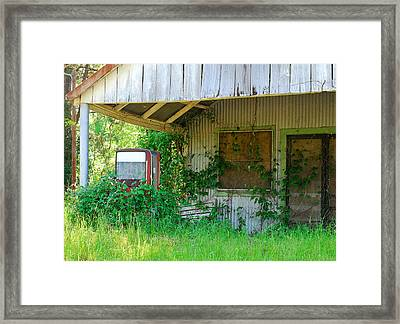Out Of Business Framed Print by Connie Fox