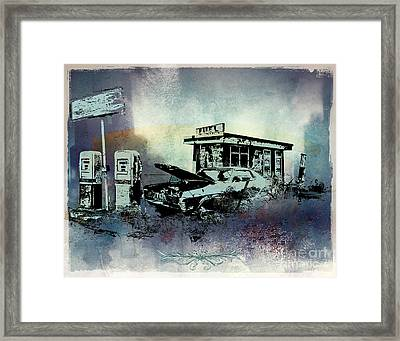 Out Of Fuel Framed Print by Bedros Awak