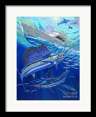 Black Marlin Framed Prints