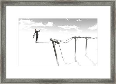 Out Of Step Framed Print by Whiskey Monday