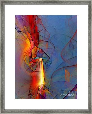 Out Of The Blue-abstract Art Framed Print by Karin Kuhlmann