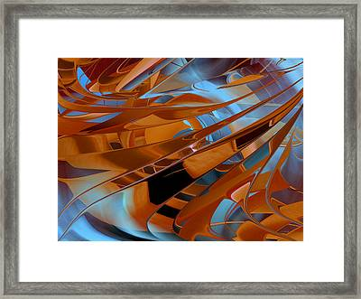 Out Of The Blue - Abstract Framed Print