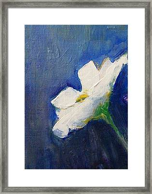 Framed Print featuring the painting Out Of The Blue by Jane  See