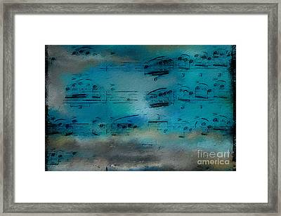 Framed Print featuring the digital art Out Of The Blue by Lon Chaffin