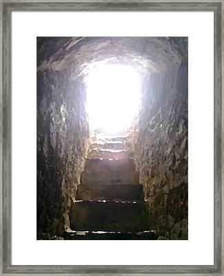 Out Of The Cave Framed Print