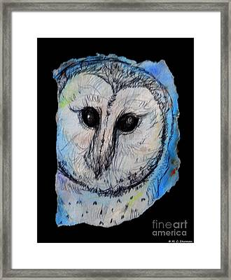 Out Of The Dark Framed Print by M C Sturman