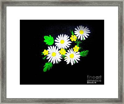 Out Of The Darkness Comes Light Framed Print by Brenda Mayall