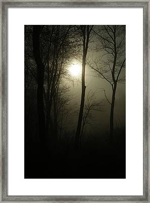 Out Of The Darkness Comes Light Framed Print by Karol Livote