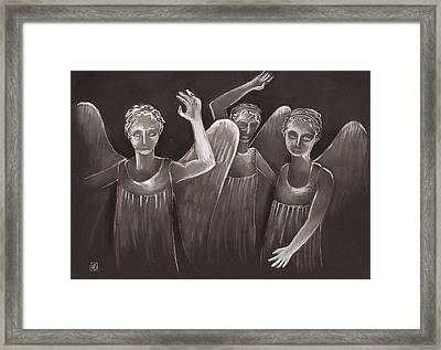 Out Of The Darkness Framed Print by Nina Shilling