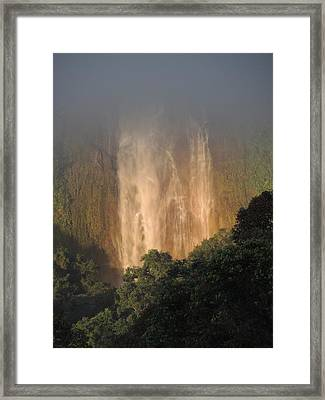 Out Of The Mist Framed Print by Gregory Young