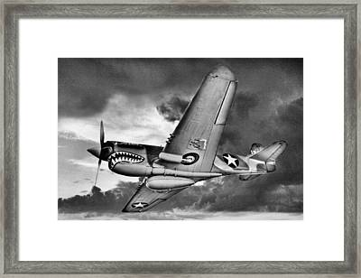 Out Of The Storm Bw Framed Print