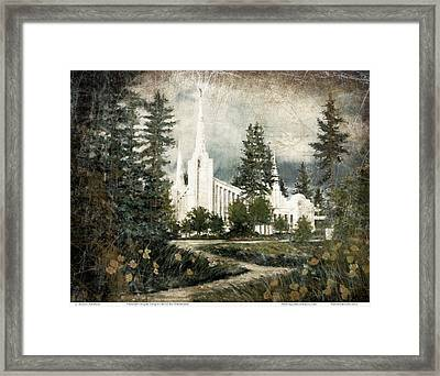 Out Of The Wilderness Portland Oregon Temple Framed Print