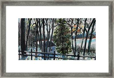 Out Of The Woods At Walden Pond Framed Print