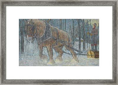 Out Of The Woods Framed Print by Len Stomski