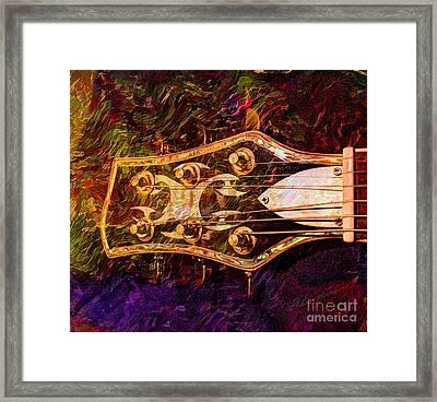 Out Of Tune Digital Guitar Art By Steven Langston Framed Print by Steven Lebron Langston