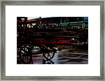 Out Of Work Framed Print by Michael  Bjerg
