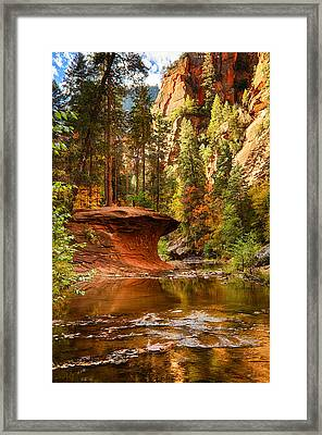 Out On A Ledge  Framed Print