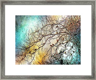 Out On A Limb In Jewel Tones Framed Print