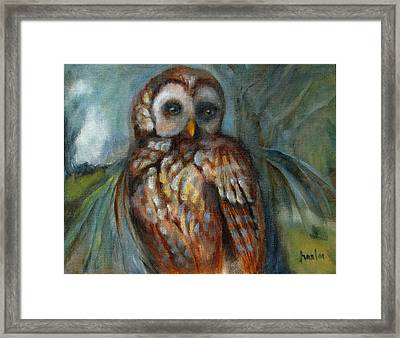 Out On A Limb Framed Print by Susan Hanlon