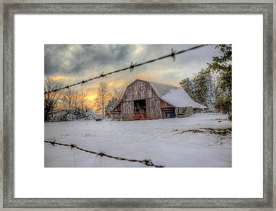 Framed Print featuring the photograph Out On The Farm by Micah Goff