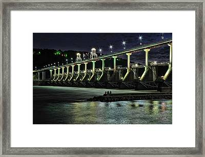 Out On The Jetty Framed Print