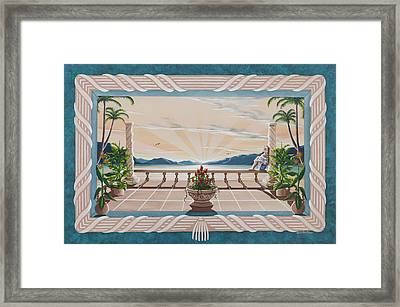 Out On The Veranda Framed Print by Nickie Bradley