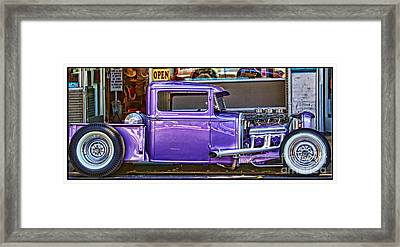 Out Shopping By Diana Sainz Framed Print